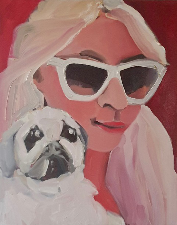 Paris and her White Chihuahua