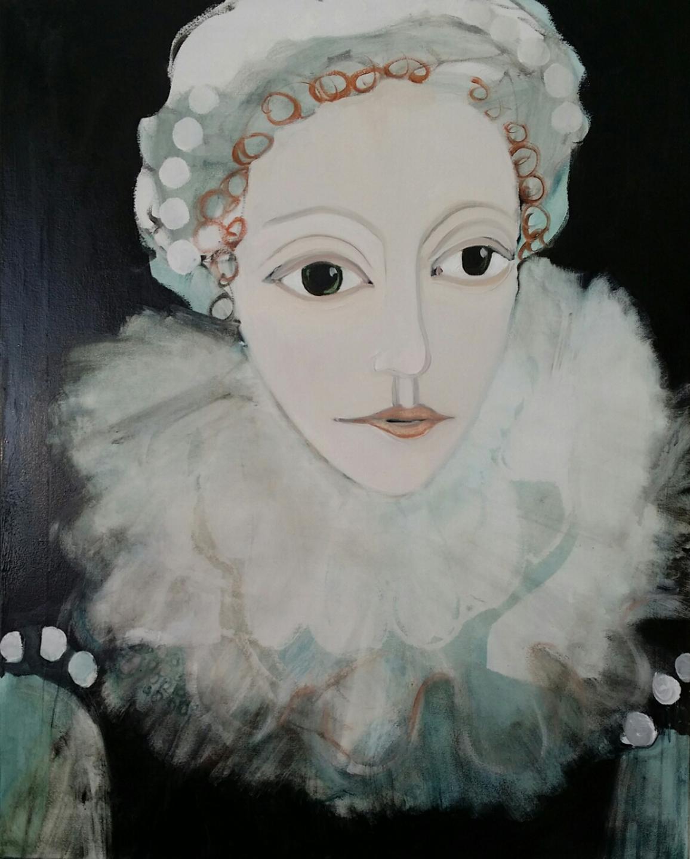 Tudor Woman in Green