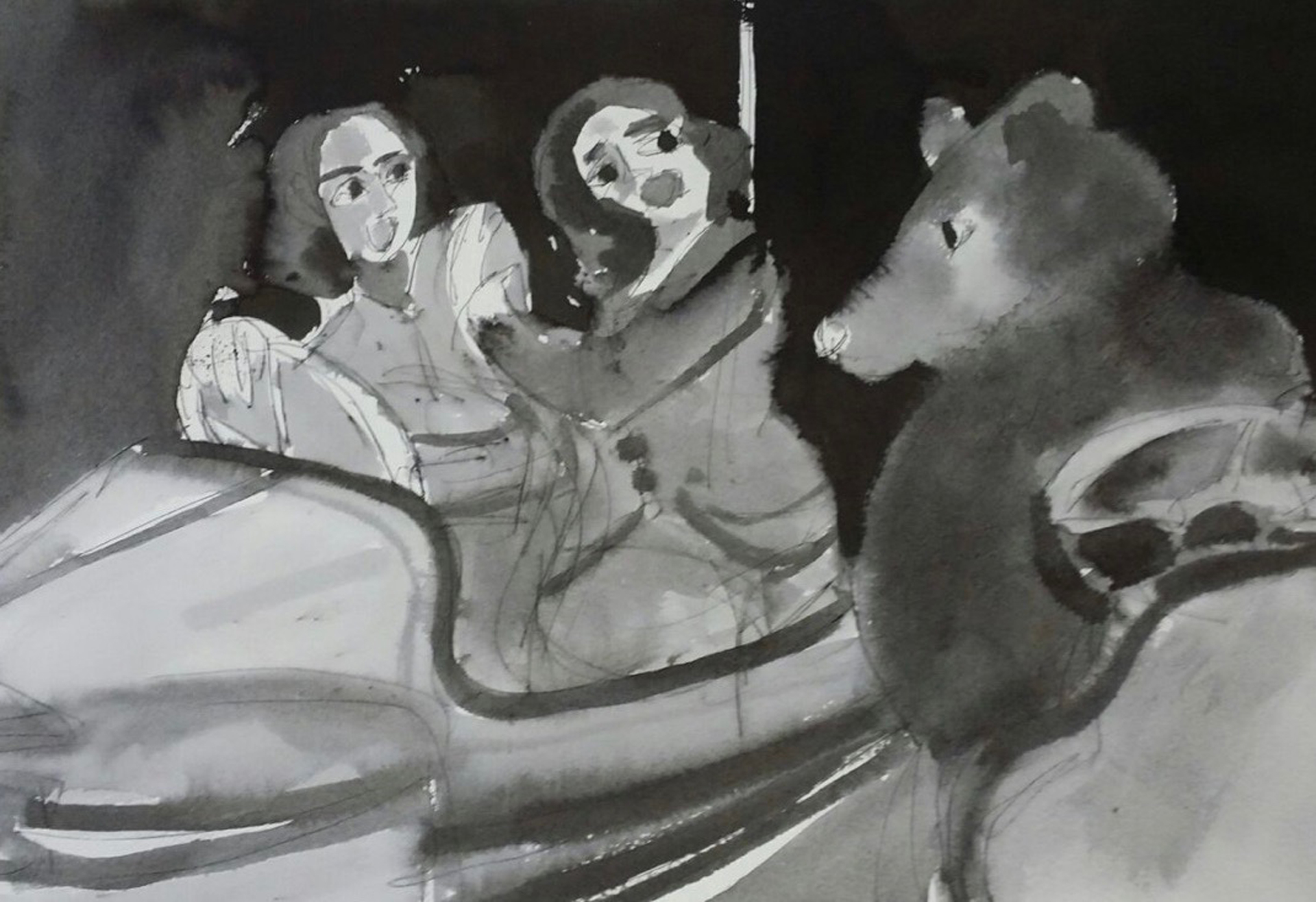 Bear on a Dodgem